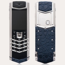 Ремонт сотового телефона Vertu Signature S Design Stainless Steel Navy Blue Alligator в Хабаровске